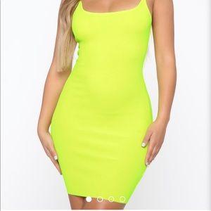 NWT- Fashion Nova Neon Mini Dress